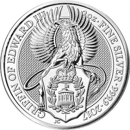 2017 The 'Queen's Beasts' Silver 2oz Griffin £5 Coin